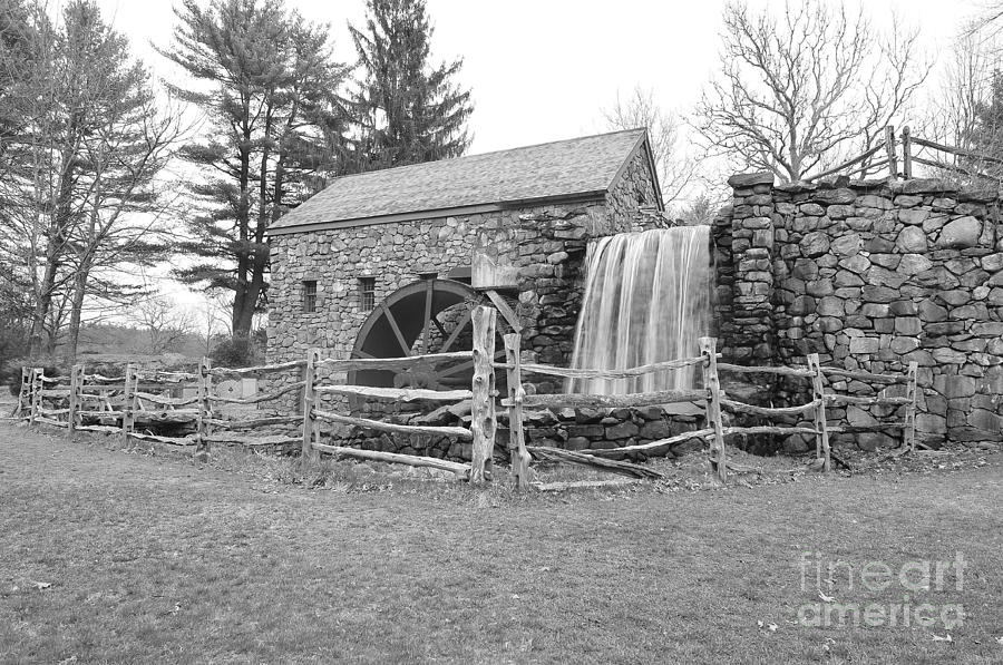 Sudbury Massachusetts Photograph - Sudbury Grist Mill  by Catherine Reusch  Daley