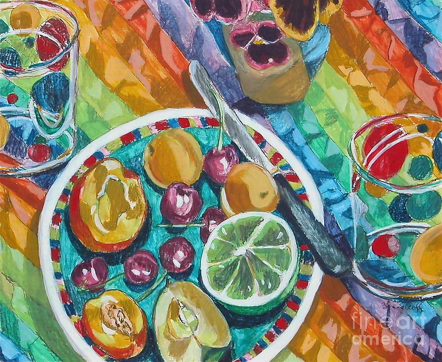 Summer Breakfast Painting