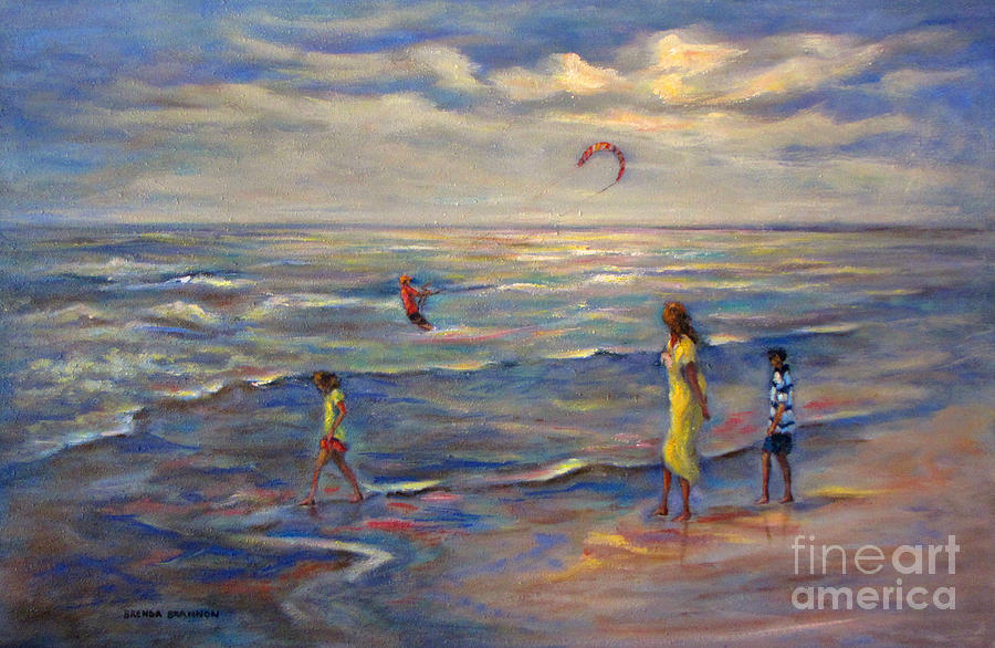 Summertime At The Beach Painting  - Summertime At The Beach Fine Art Print