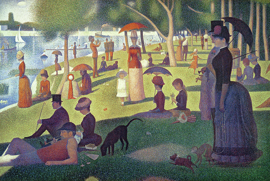 Sunday Afternoon On The Island Of La Grande Jatte Painting  - Sunday Afternoon On The Island Of La Grande Jatte Fine Art Print
