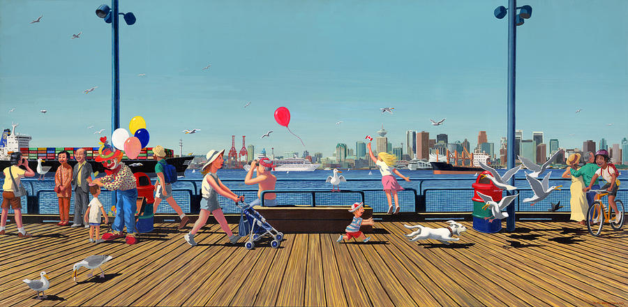 Sunday Morning Lonsdale Quay Painting  - Sunday Morning Lonsdale Quay Fine Art Print