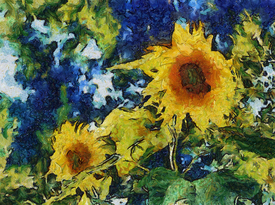 Sunflower Photograph - Sunflowers by Michelle Calkins
