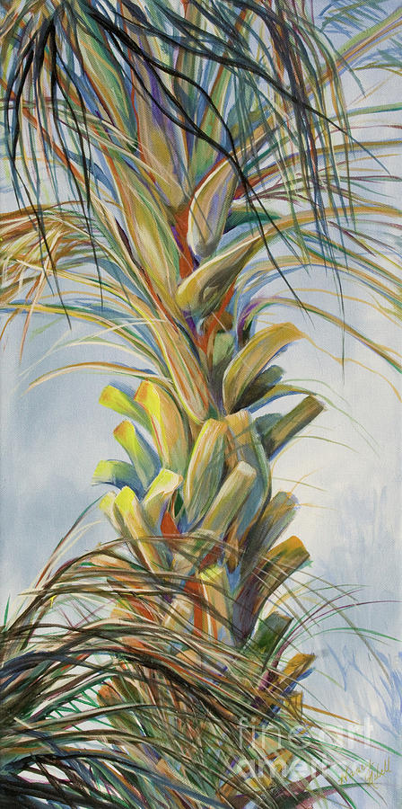 Sunlit Palm Painting