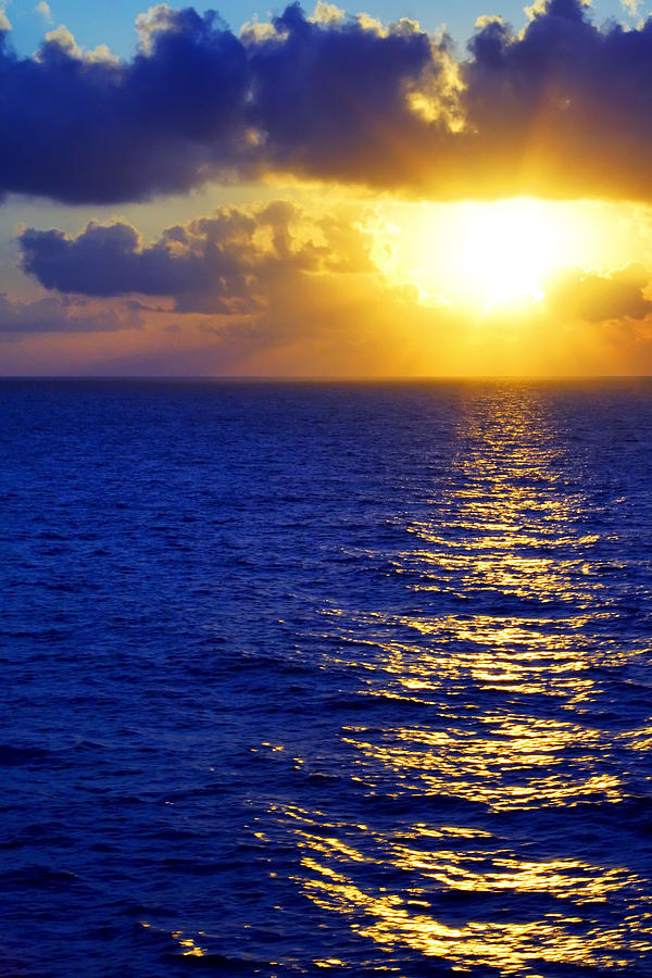 Sunrise At Sea Photograph  - Sunrise At Sea Fine Art Print