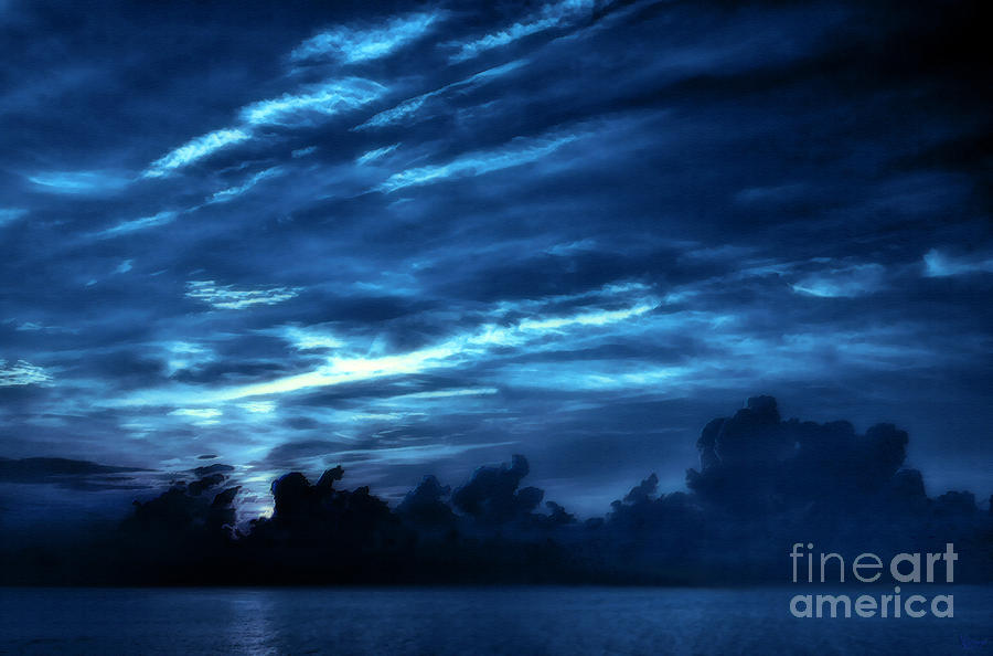 Sunrise In Blue Photograph