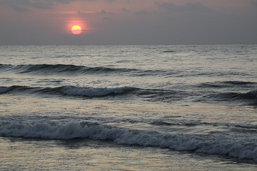 Sunrise Over Arabian Sea Hawf Protected Photograph  - Sunrise Over Arabian Sea Hawf Protected Fine Art Print