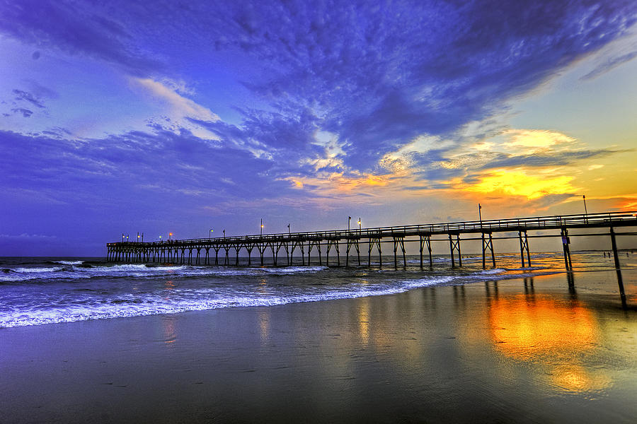 sunset fishing pier