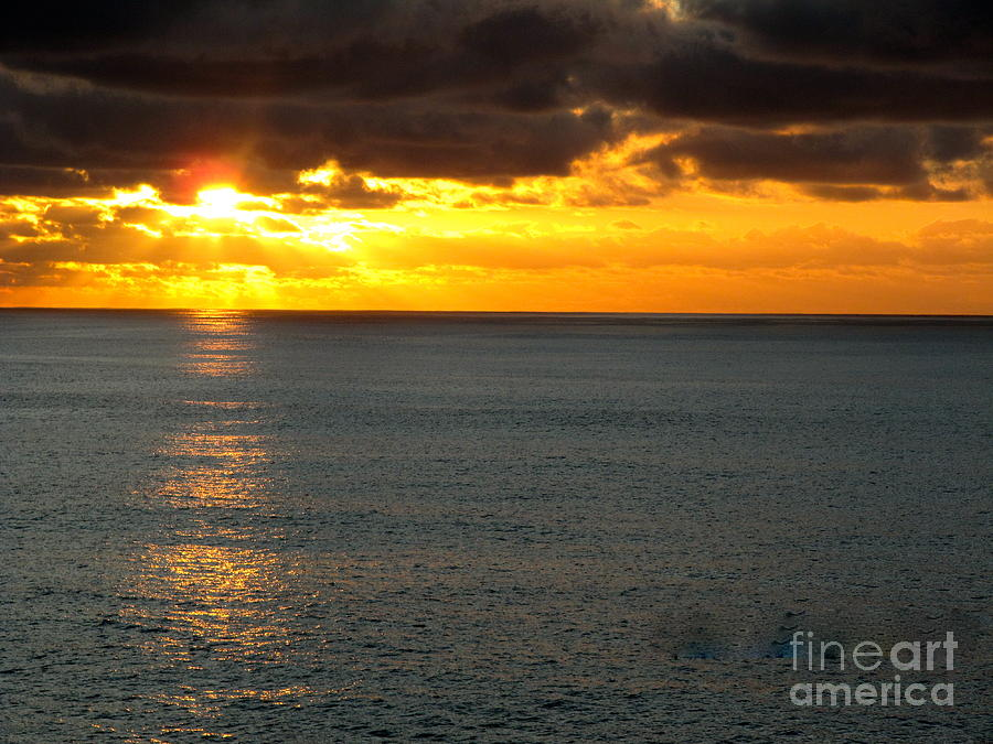 Sunset In The Black Sea Photograph  - Sunset In The Black Sea Fine Art Print