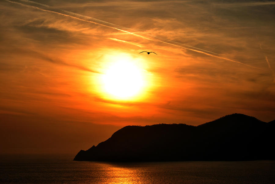 Sunset In The Village Corniglia Photograph  - Sunset In The Village Corniglia Fine Art Print