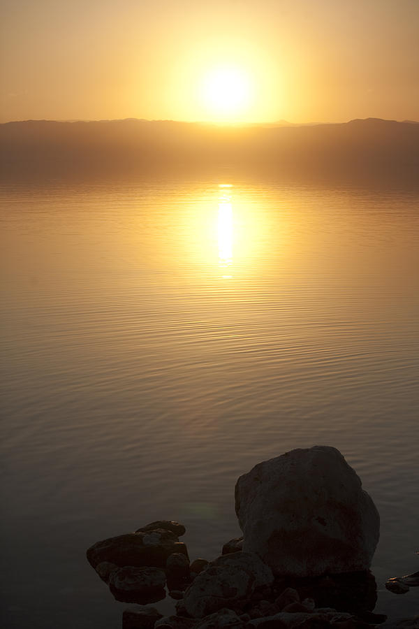 Sunset Over The Dead Sea Photograph  - Sunset Over The Dead Sea Fine Art Print