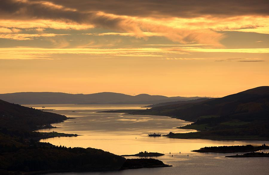 Sunset Over Water, Argyll And Bute Photograph  - Sunset Over Water, Argyll And Bute Fine Art Print