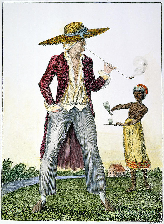 Surinam: Slave Owner, 1796 Photograph  - Surinam: Slave Owner, 1796 Fine Art Print