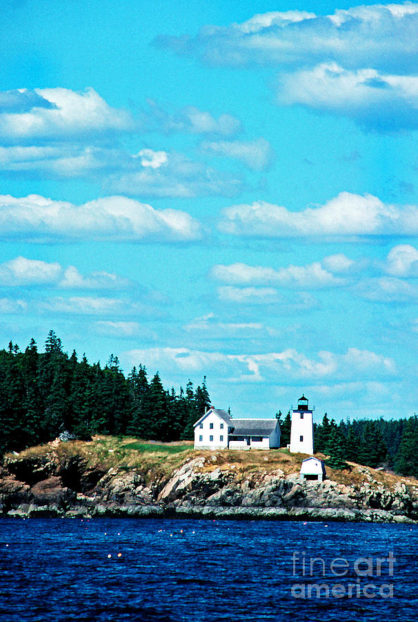Swans Island Lighthouse Photograph