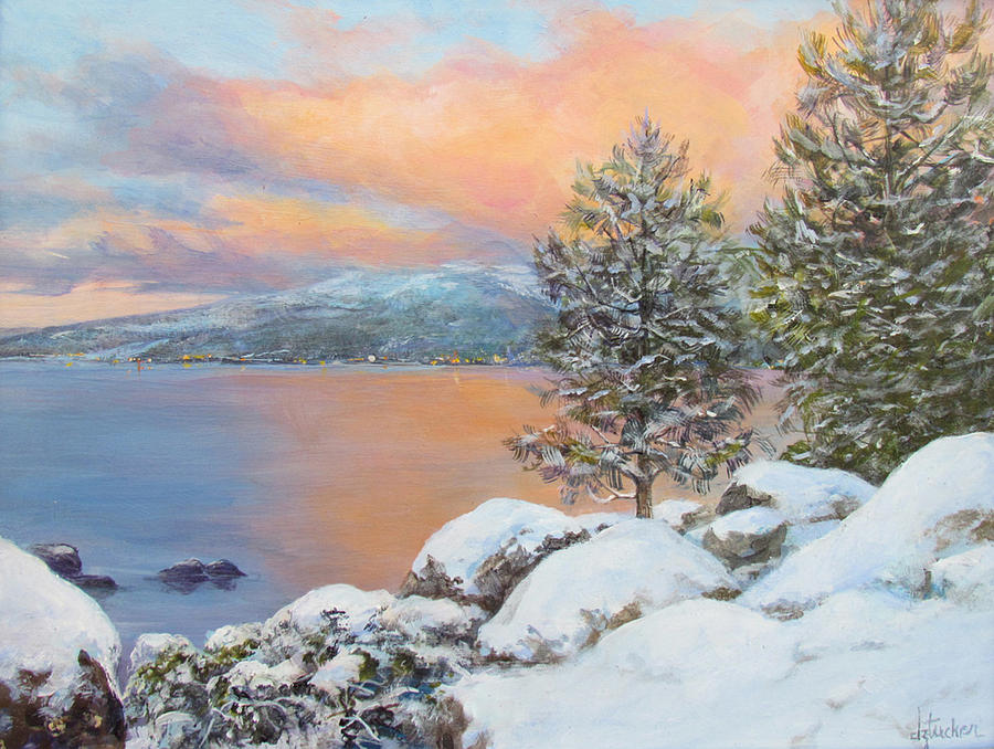 Tahoe Winter Colors Painting
