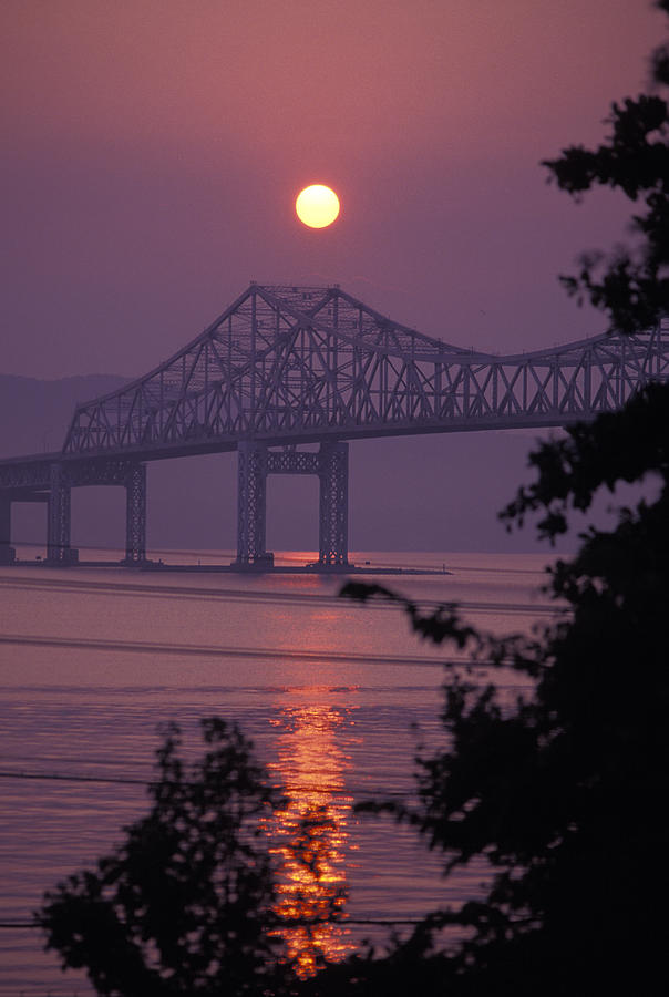 Tappen Zee Bridge At Sunset Photograph  - Tappen Zee Bridge At Sunset Fine Art Print