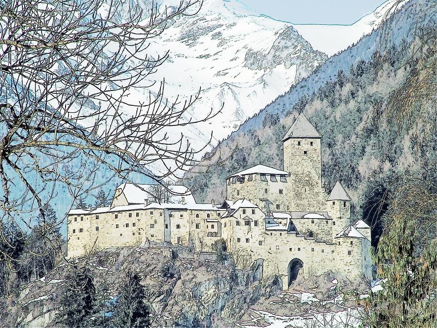 Taufers Knights Castle Valle Aurina Italy Photograph