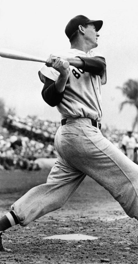 Ted Williams Of The Boston Red Sox, Ca Photograph