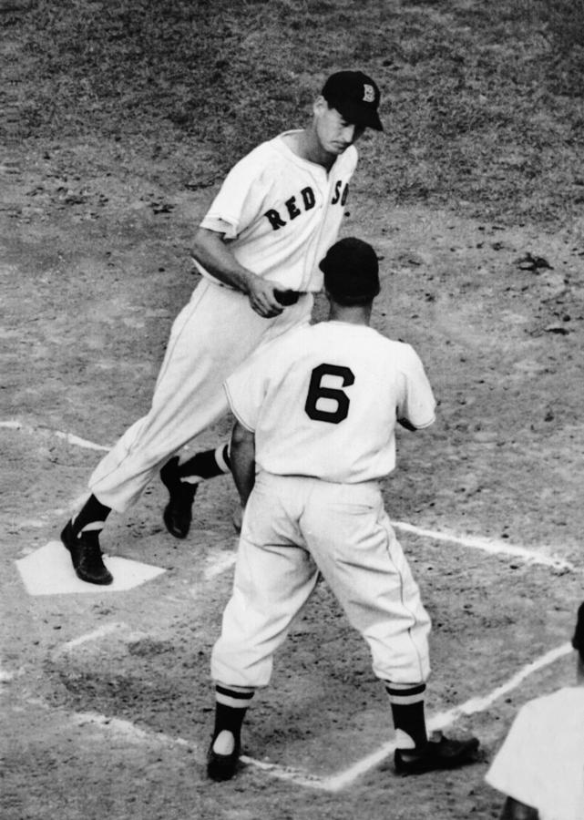 Ted Williams Of The Boston Red Sox Photograph