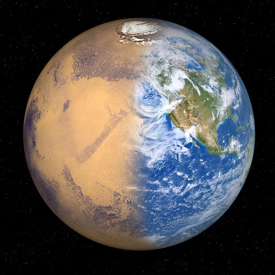 Mars Terraforming: Terraforming Mars, Artwork Photograph By Detlev Van Ravenswaay