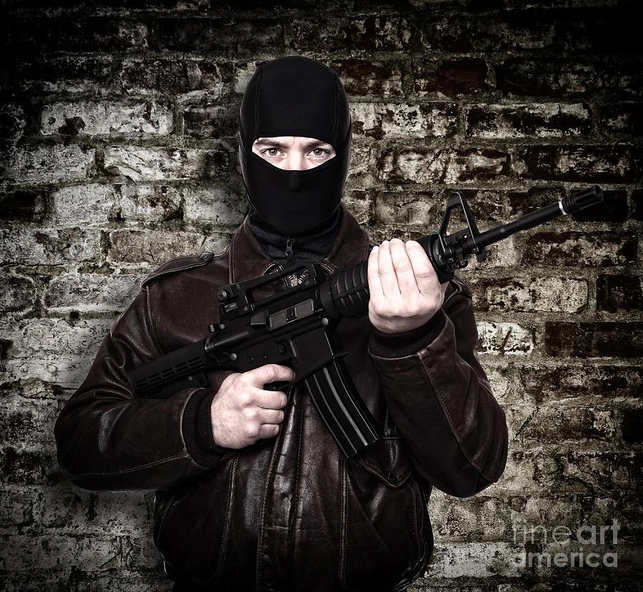 Terrorist Portrait Photograph by Gualtiero Boffi