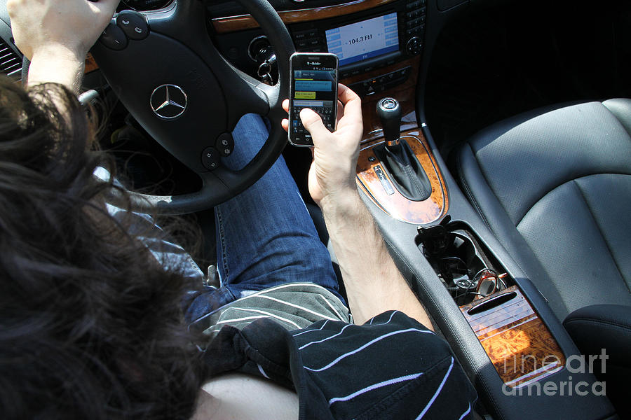Texting And Driving Photograph