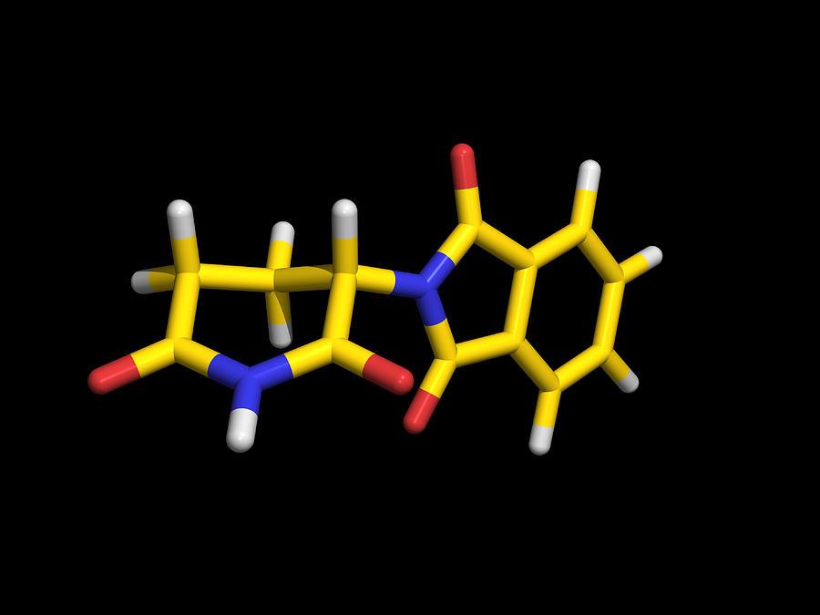 Thalidomide Photograph - Thalidomide Drug Molecule by Dr Tim Evans