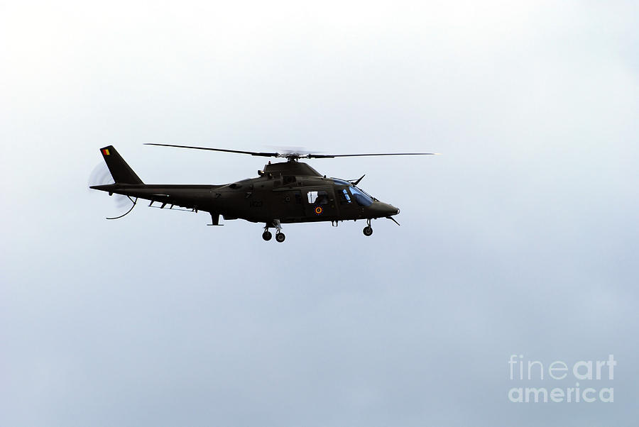 The Agusta A-109 Helicopter Photograph  - The Agusta A-109 Helicopter Fine Art Print