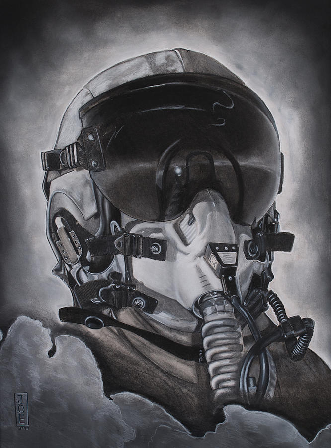 The Aviator Drawing  - The Aviator Fine Art Print