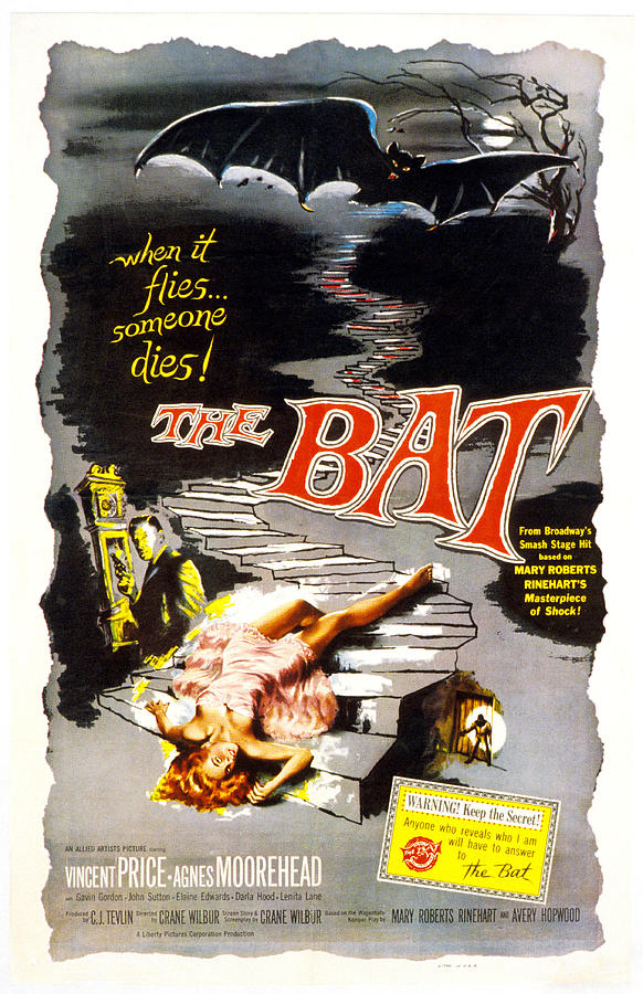 The Bat, Vincent Price, 1959 Photograph