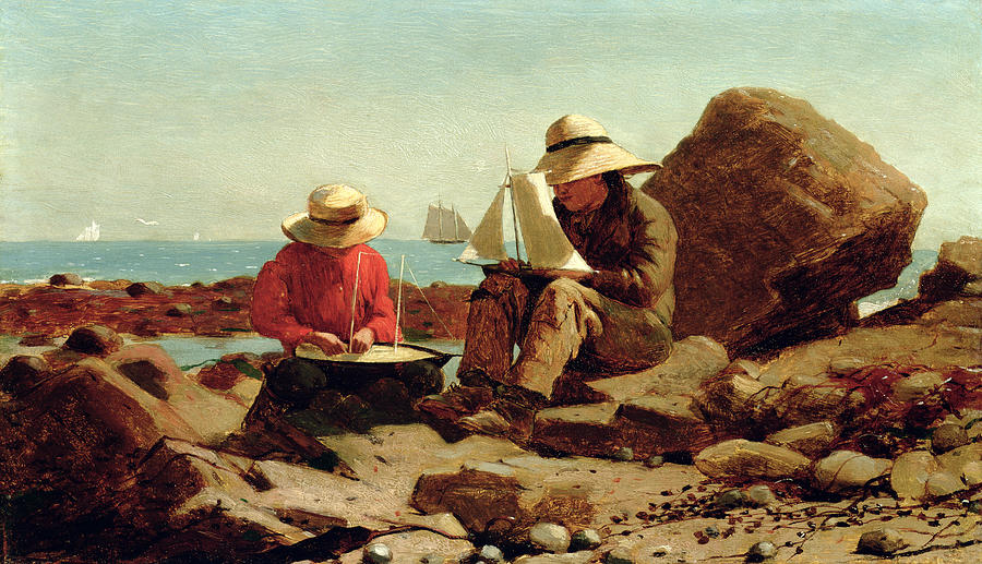 The Boat Builders Painting