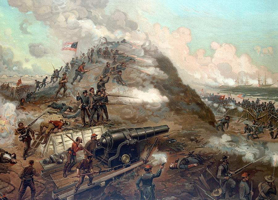 The Capture Of Fort Fisher Painting