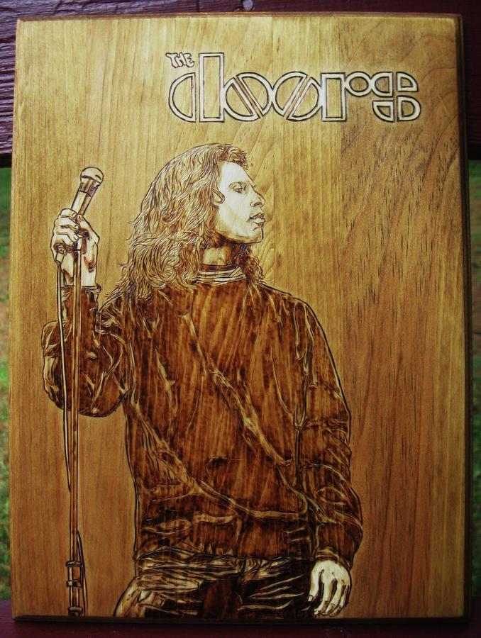 The Doors Pyrography