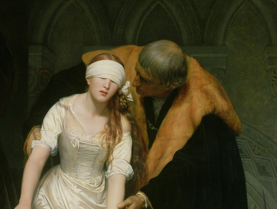 The Execution Of Lady Jane Grey Painting  - The Execution Of Lady Jane Grey Fine Art Print