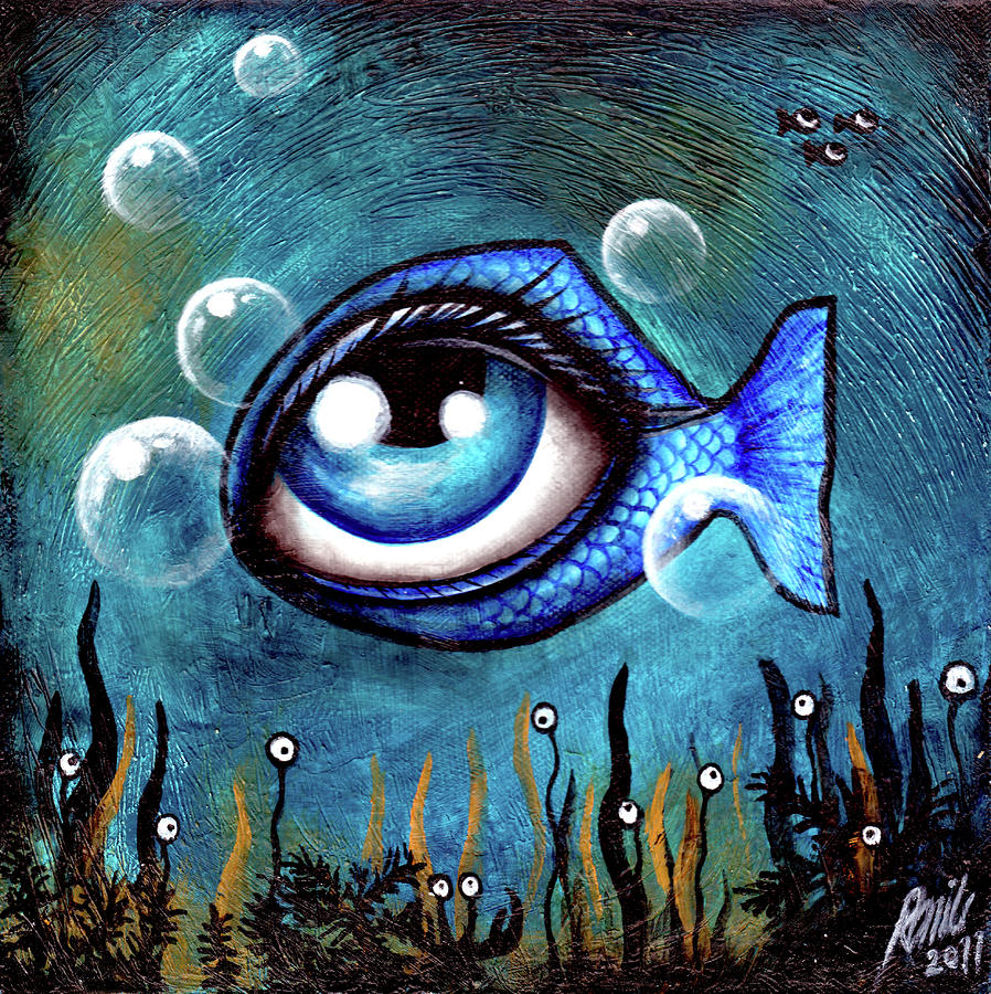 The eye fish by ramiliano guerra for Fish eyes in paint