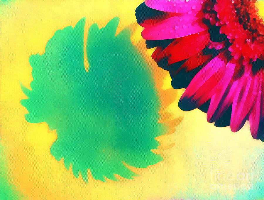 The Gerbera Painting  - The Gerbera Fine Art Print