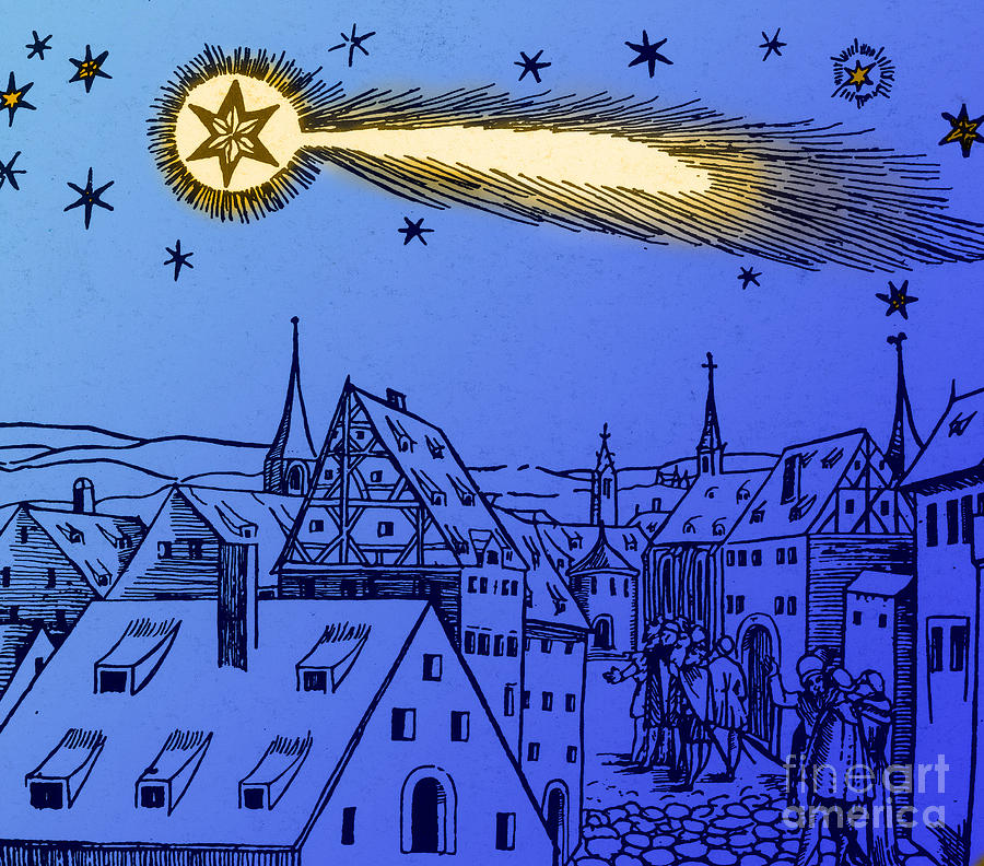 The Great Comet Of 1556 Photograph  - The Great Comet Of 1556 Fine Art Print