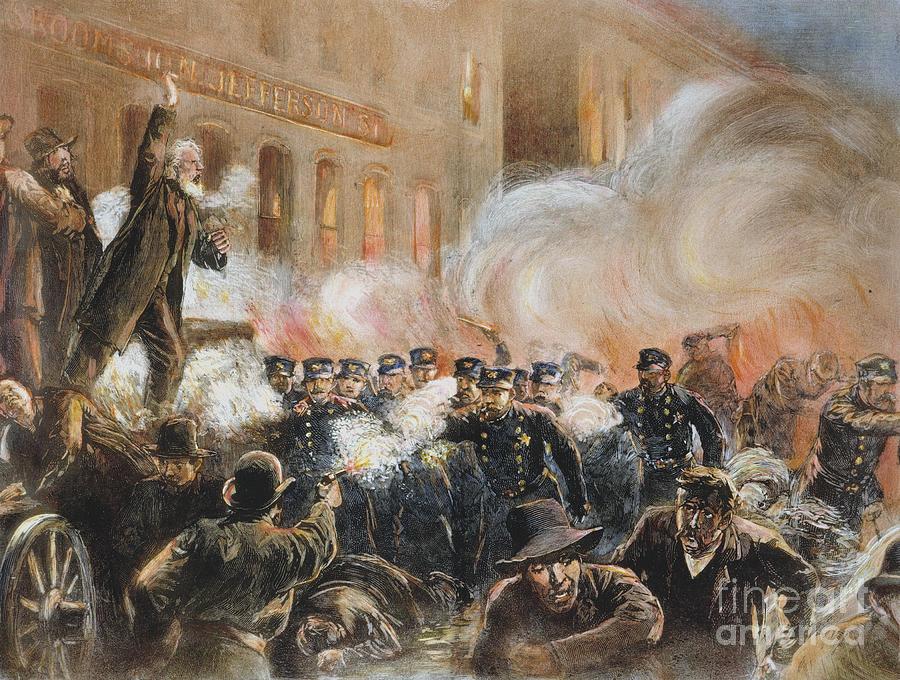 The Haymarket Riot, 1886 Photograph