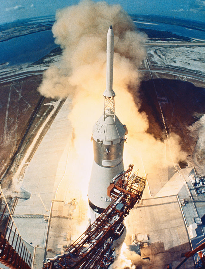 Vertical Photograph - The Launch Of A Space Rocket by Stockbyte