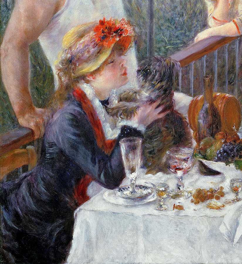 The Luncheon Of The Boating Party Painting  - The Luncheon Of The Boating Party Fine Art Print