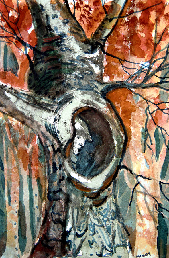 The Man In The Tree Painting  - The Man In The Tree Fine Art Print