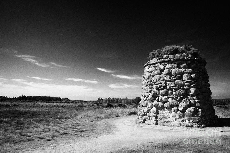the memorial cairn on Culloden moor battlefield site highlands scotland Photograph  - the memorial cairn on Culloden moor battlefield site highlands scotland Fine Art Print