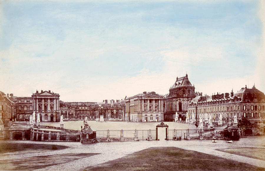 The Palace Of Versailles. C. 1880 Photograph  - The Palace Of Versailles. C. 1880 Fine Art Print