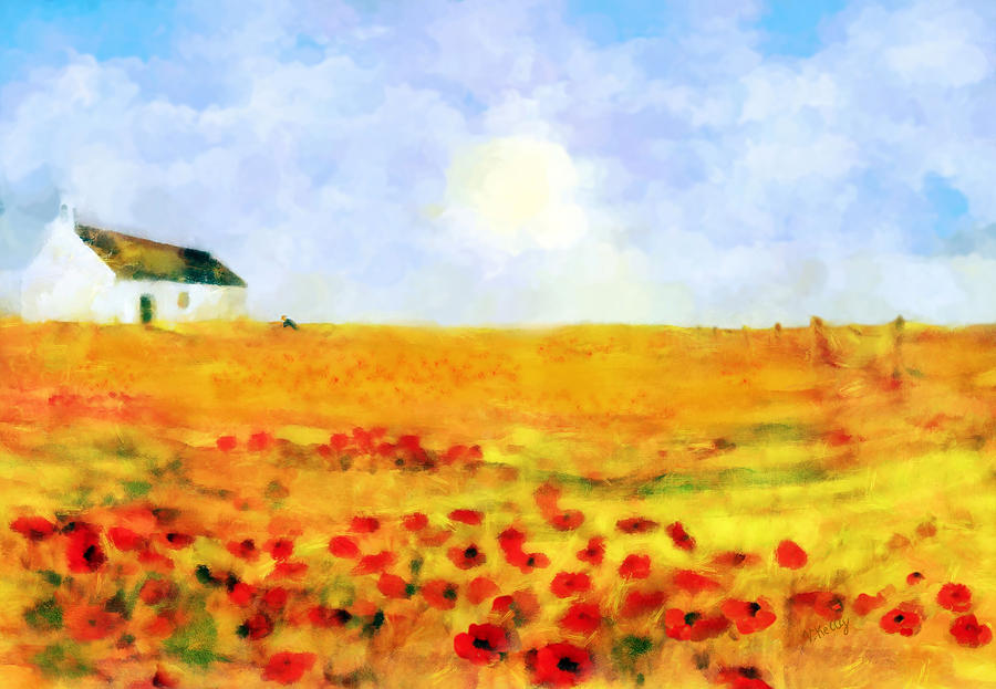 The Poppy Picker Painting  - The Poppy Picker Fine Art Print