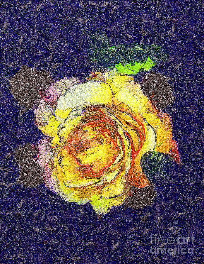 Odon Painting - The Rose by Odon Czintos