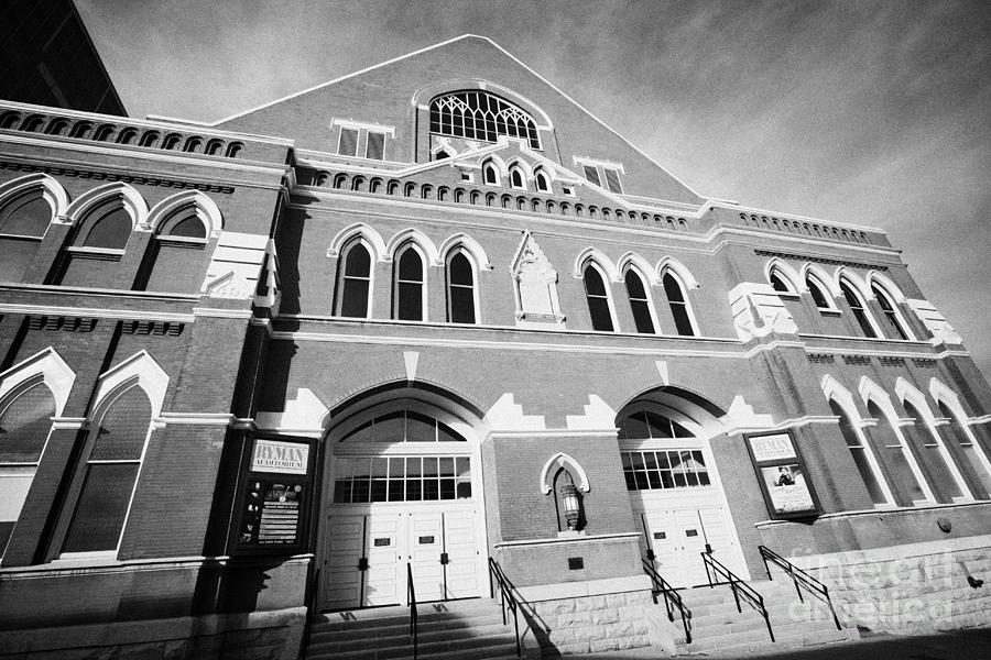 The Ryman Auditorium Former Home Of The Grand Ole Opry And Gospel Union Tabernacle Nashville Photograph  - The Ryman Auditorium Former Home Of The Grand Ole Opry And Gospel Union Tabernacle Nashville Fine Art Print