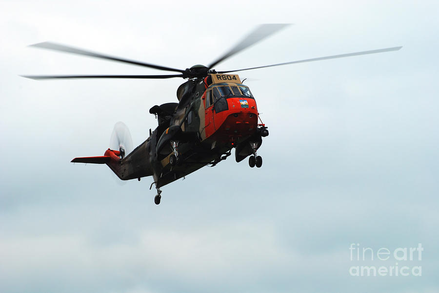 Air Component Photograph - The Sea King Helicopter In Use by Luc De Jaeger