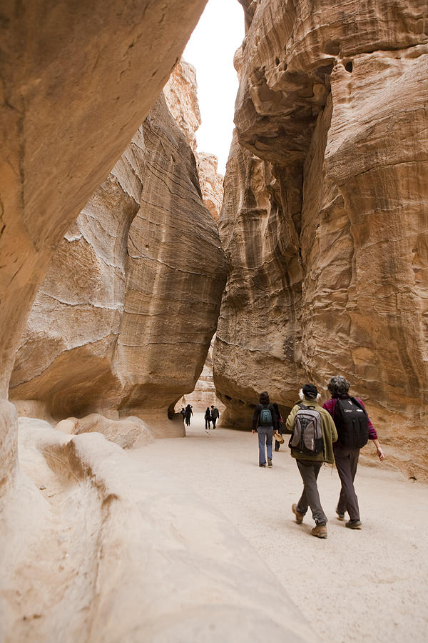 Petra Photograph - The Slot Canyons Leading Into Petra by Taylor S. Kennedy