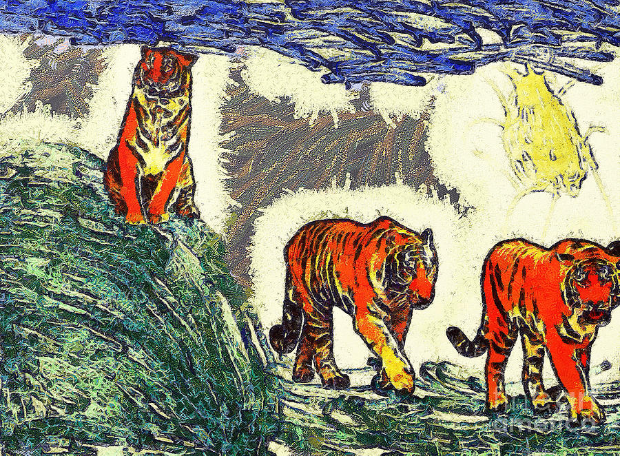 The Tigers Painting