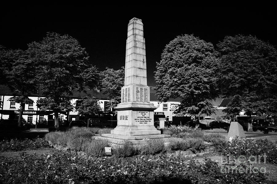 The War Memorial Newtownards County Down Northern Ireland Photograph  - The War Memorial Newtownards County Down Northern Ireland Fine Art Print