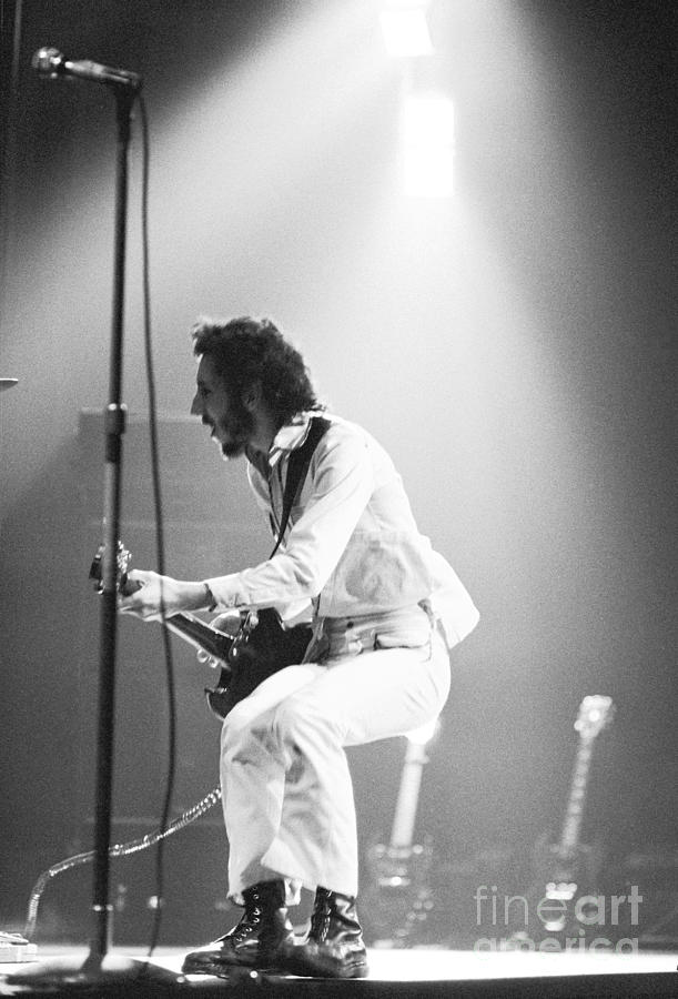 The Whos Pete Townshend 1972 Photograph  - The Whos Pete Townshend 1972 Fine Art Print